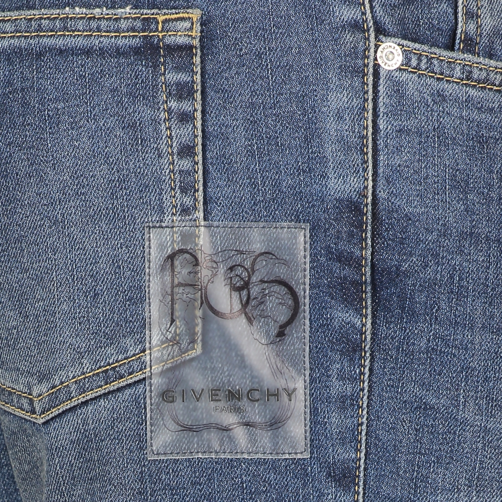 Slim-fit jeans met patches