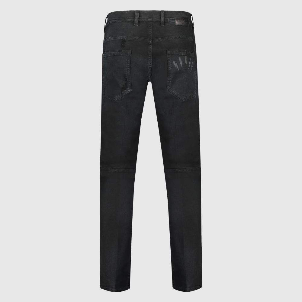 Superskinny distressed 6-pocket jeans