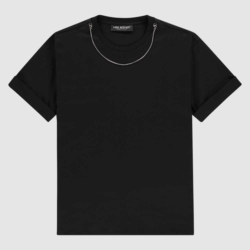 Regular-fit T-Shirt met ketting