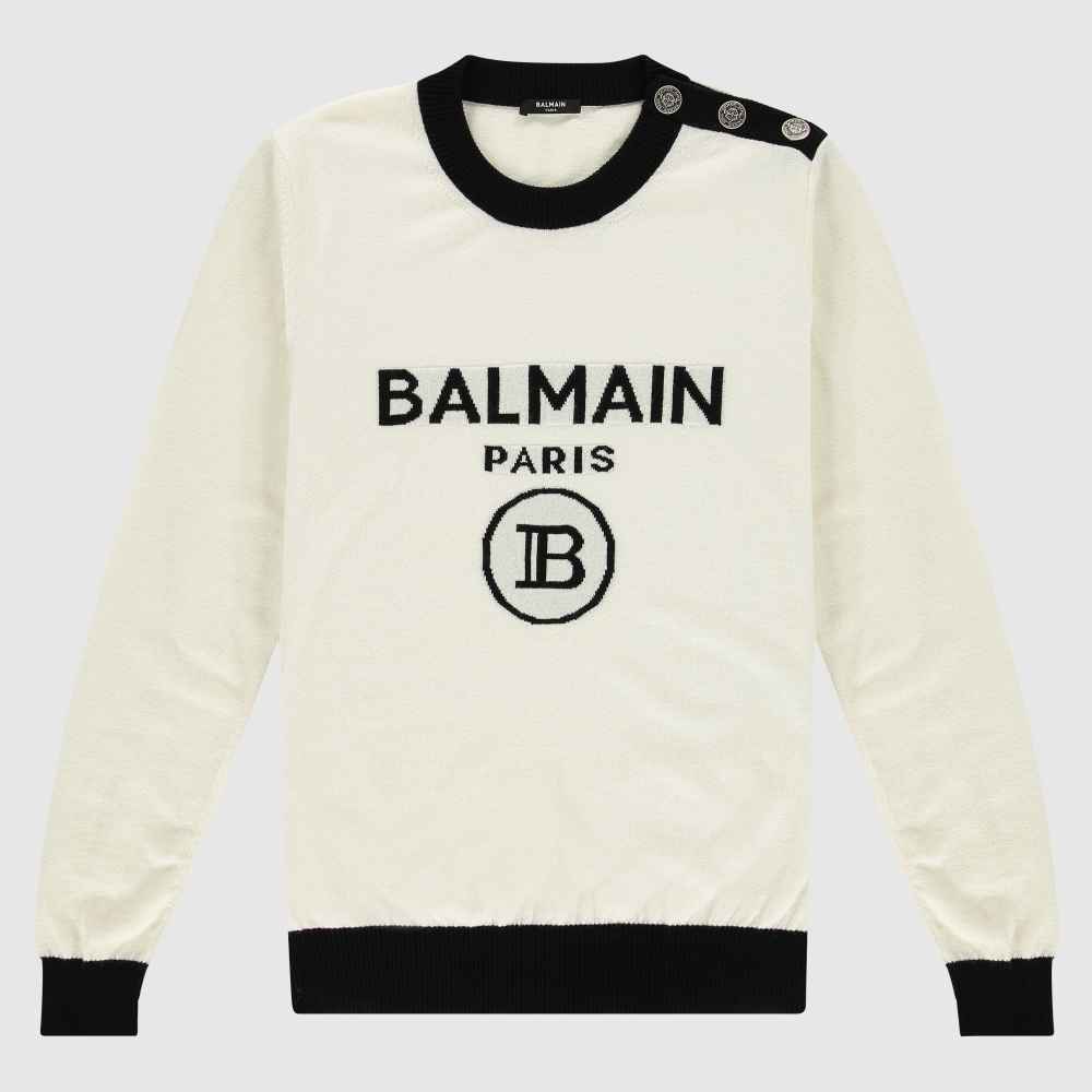 Button detail logo jumper