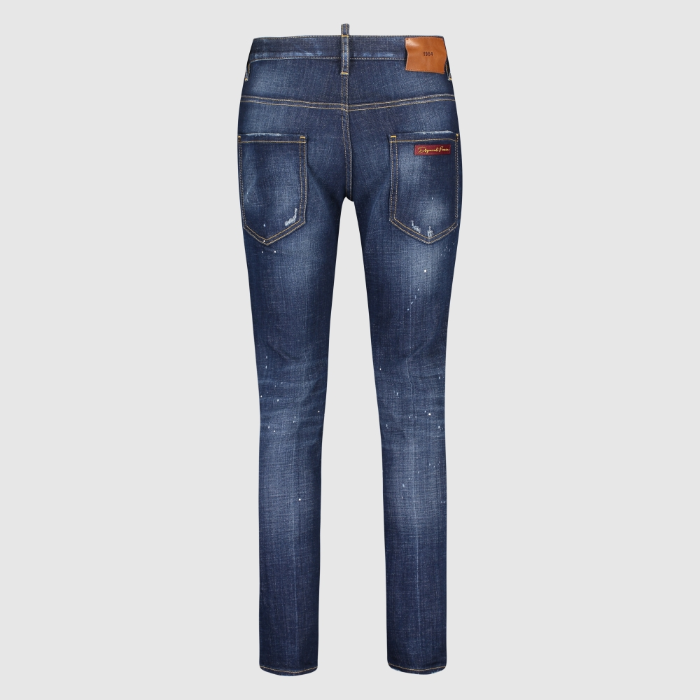 Skinny-fit washed jeans