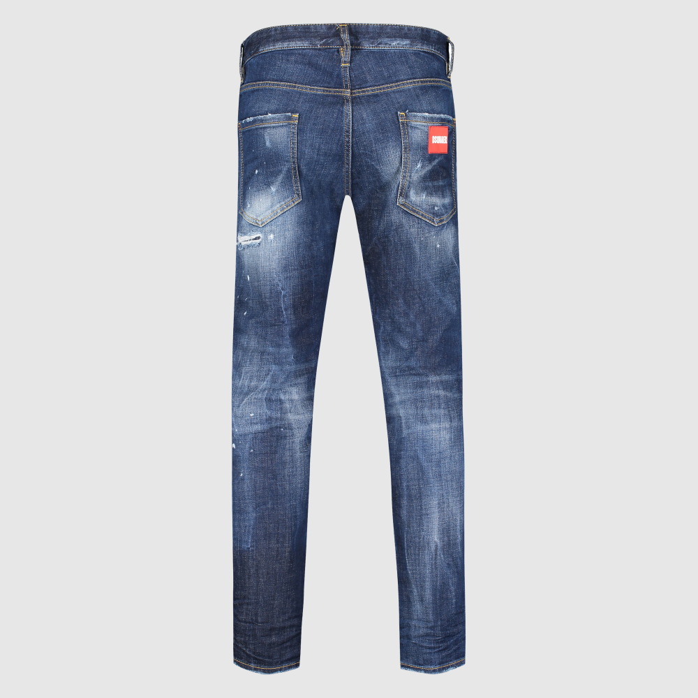 Regular-fit distressed jeans