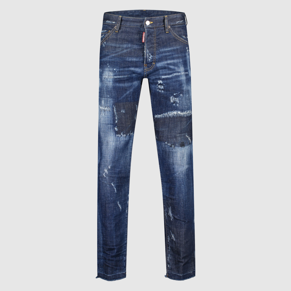 Regular-fit distressed 'Kick Ass' jeans