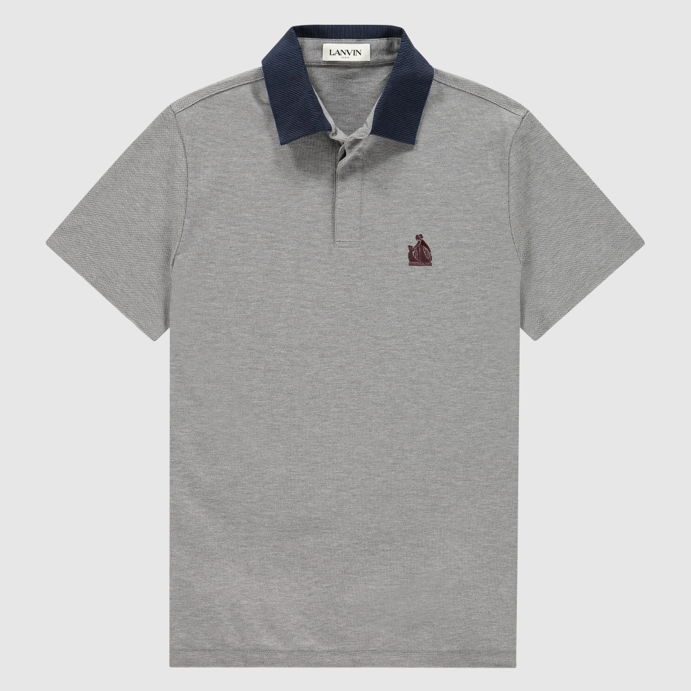 Regular-fit jersey piqué polo