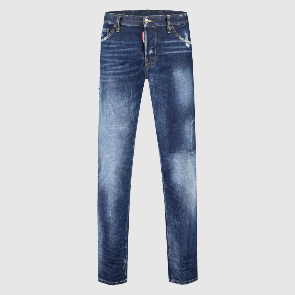 Regular-fit washed jeans