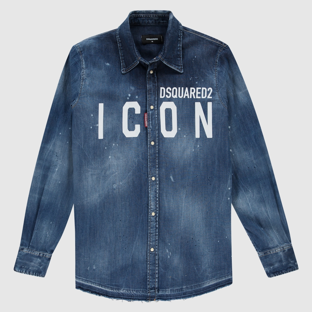 Regular-fit Icon denim shirt