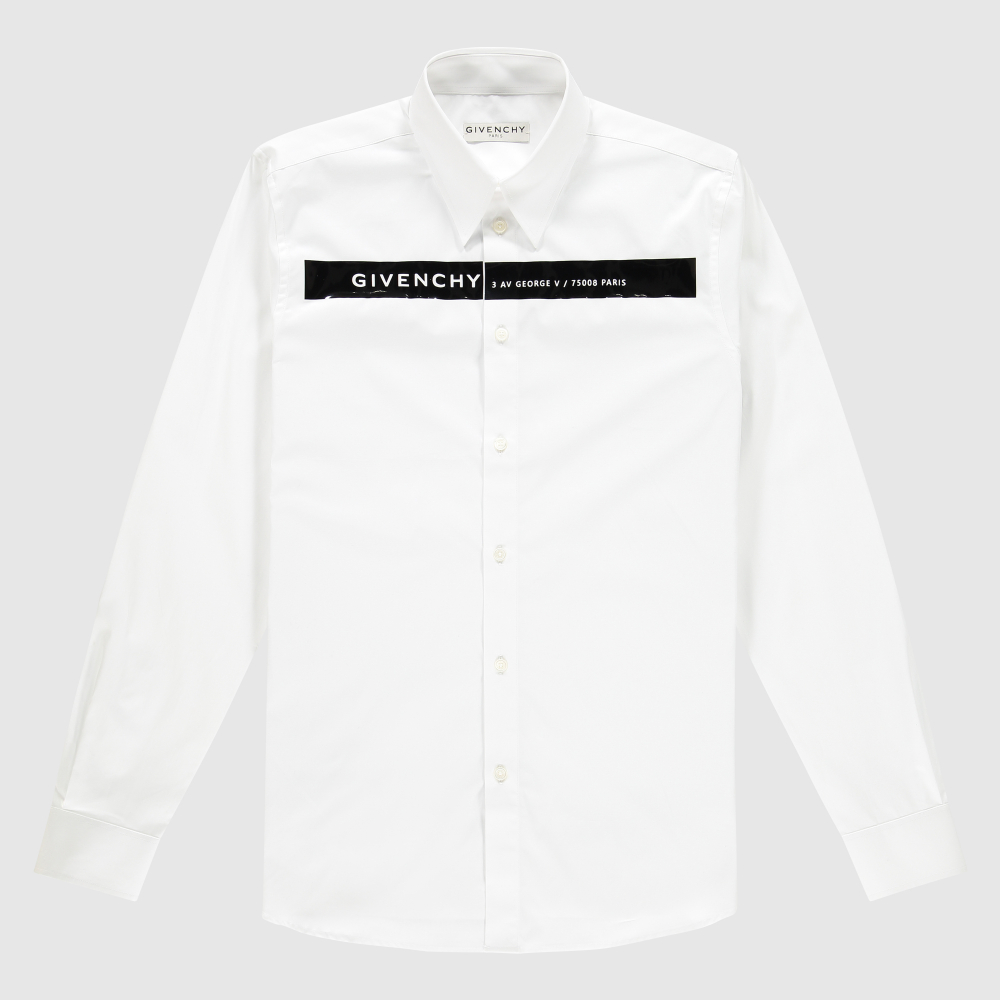 Shirt met Givenchy-band