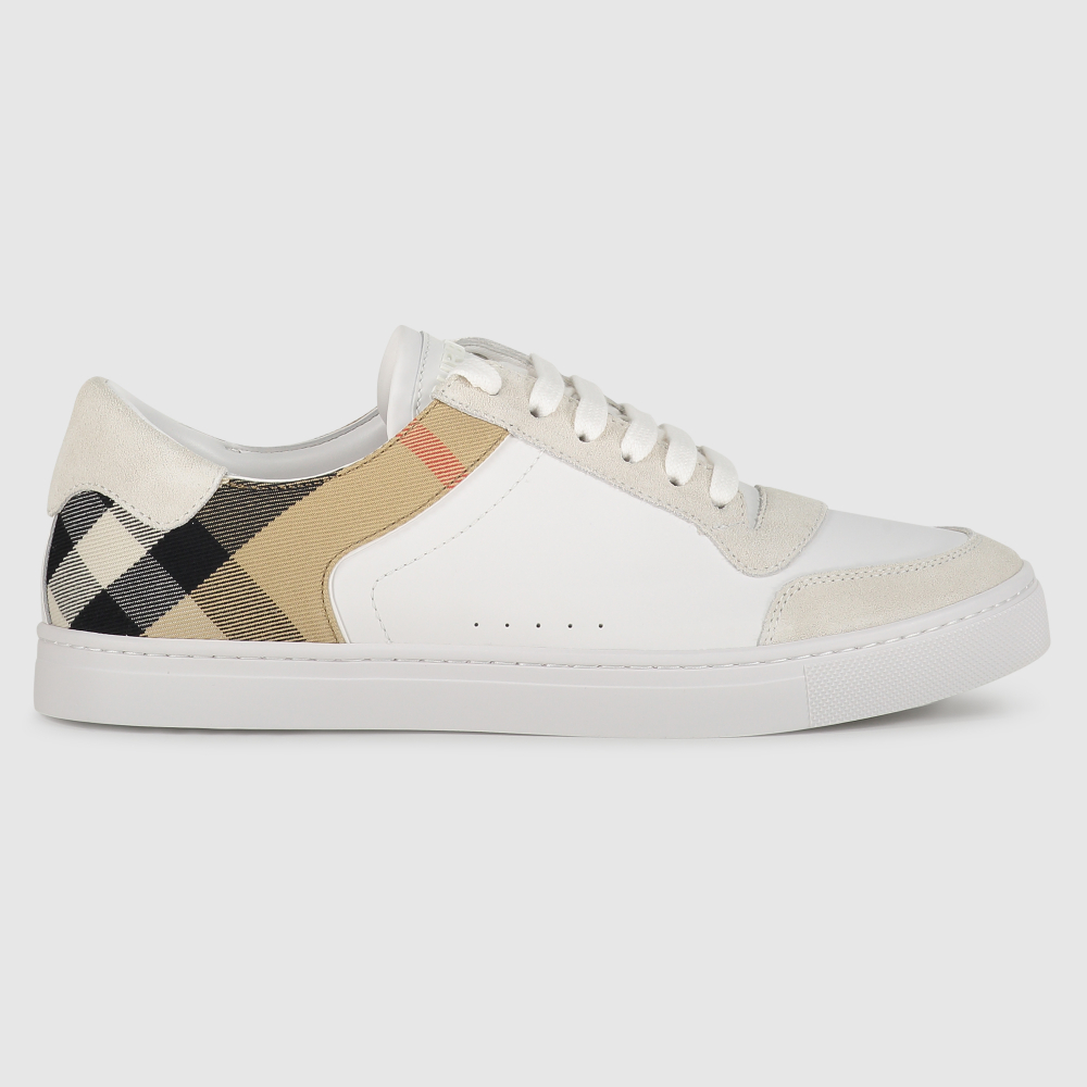 Low-top House check sneakers