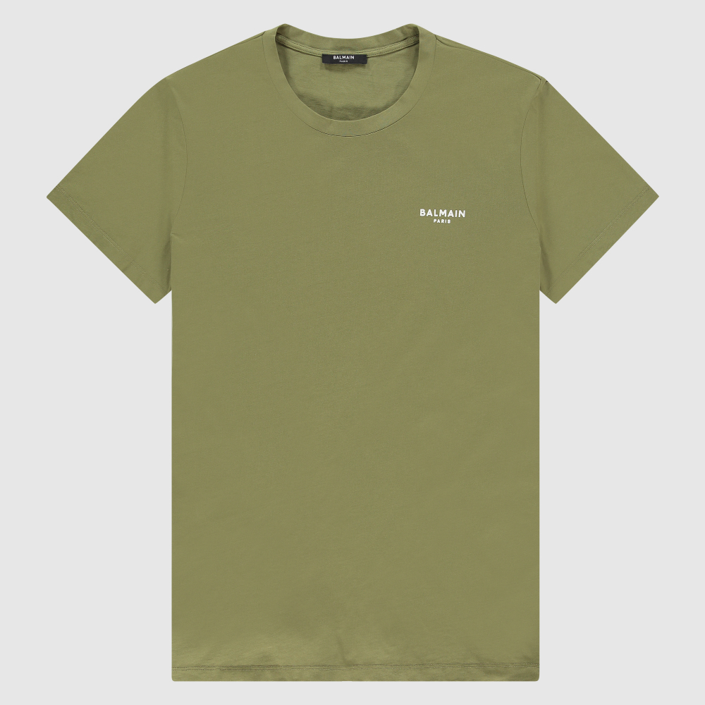 Regular-fit velvet logo T-shirt