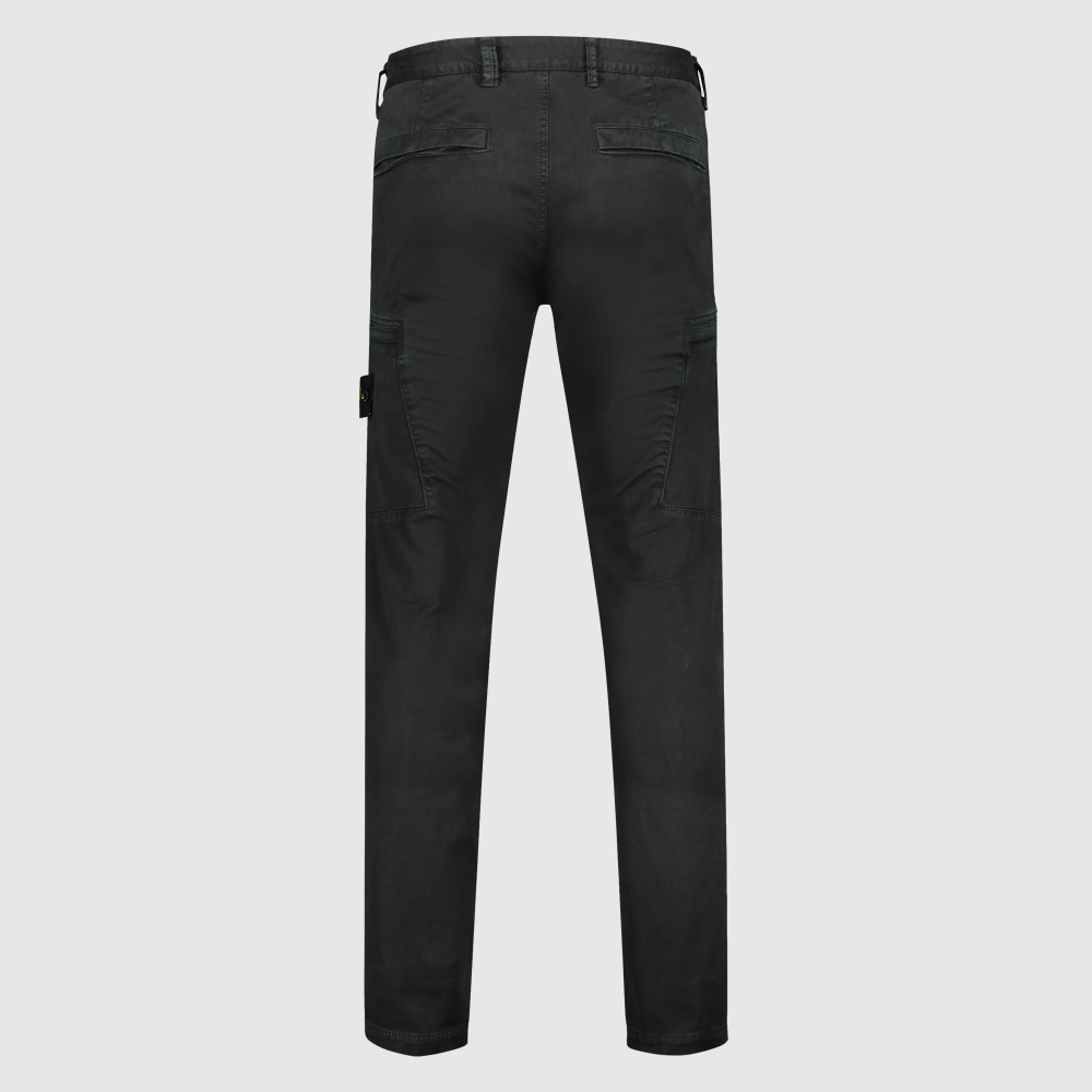 Slim-fit stretch twill pants met Compass logopatch