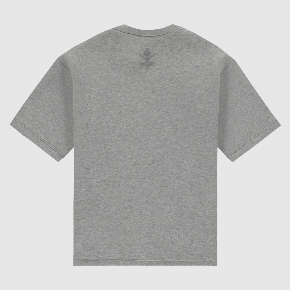 Wide-fit weaving box bonded T-shirt