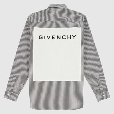 Button-down patch overhemd