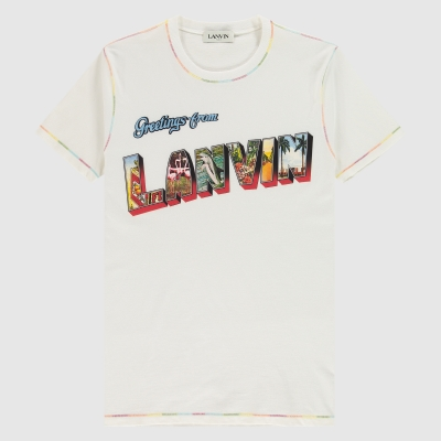 Greetings from Lanvin print T-Shirt