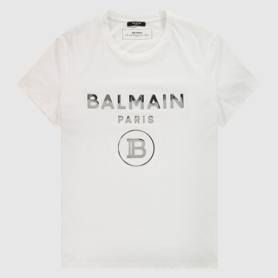 Metallic logo print T-Shirt