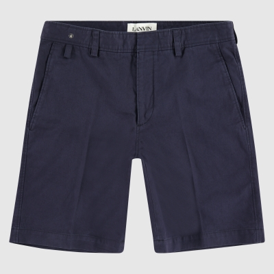 Wide-fit logo patch bermuda shorts