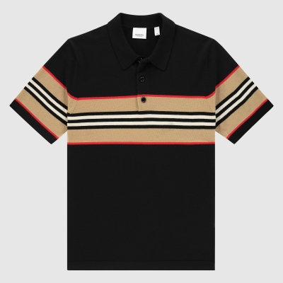 Mega Icon Stripe polo shirt