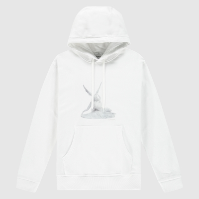 Regular-fit 'Cupid' print hoodie