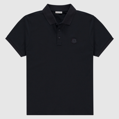 Slim-fit logo polo
