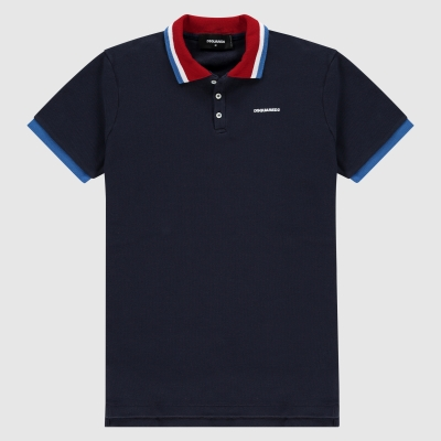 Slim-fit colored polo