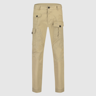 Tapered cargo broek in stretch-katoen